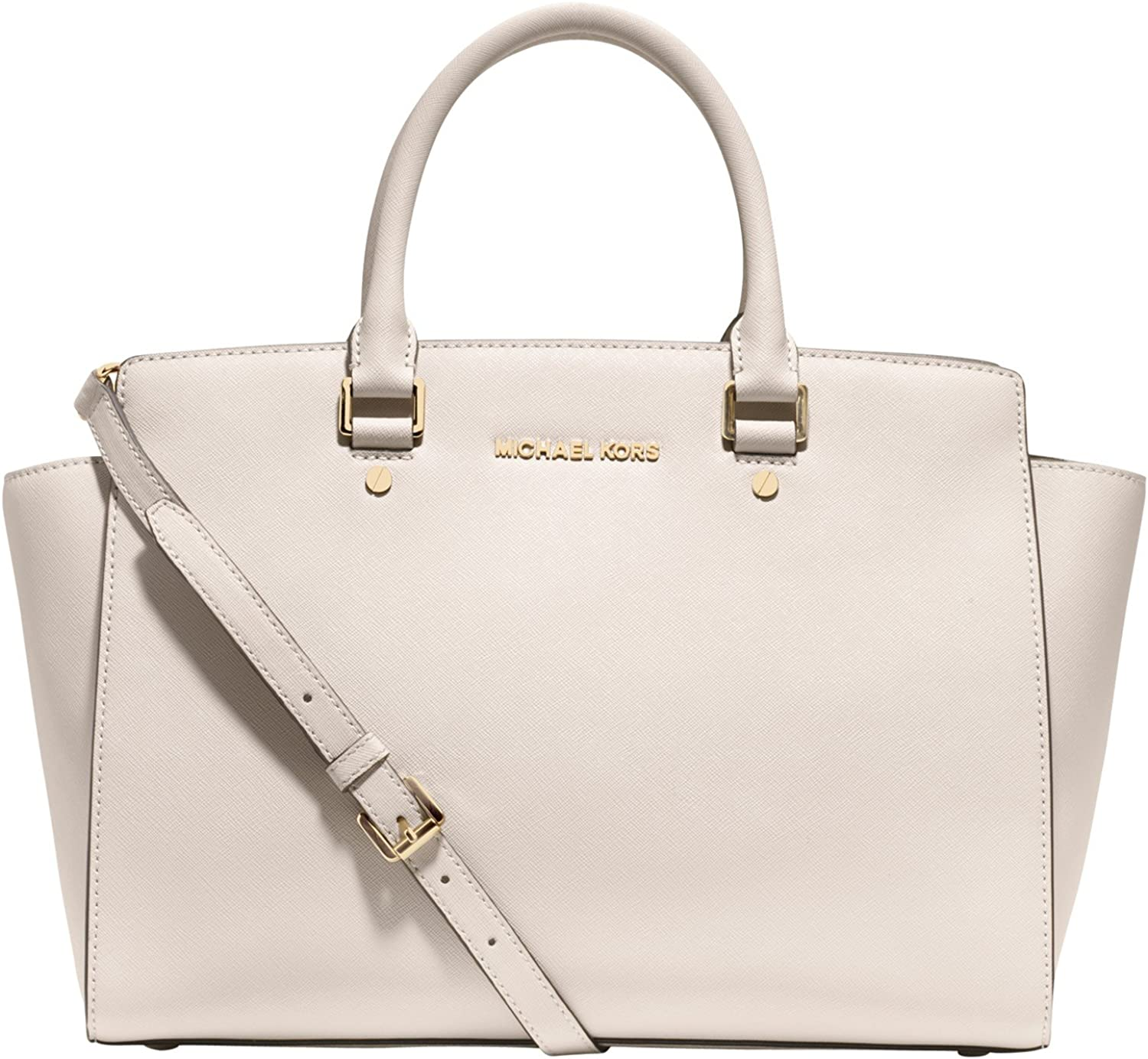 MK selma large east west satchel