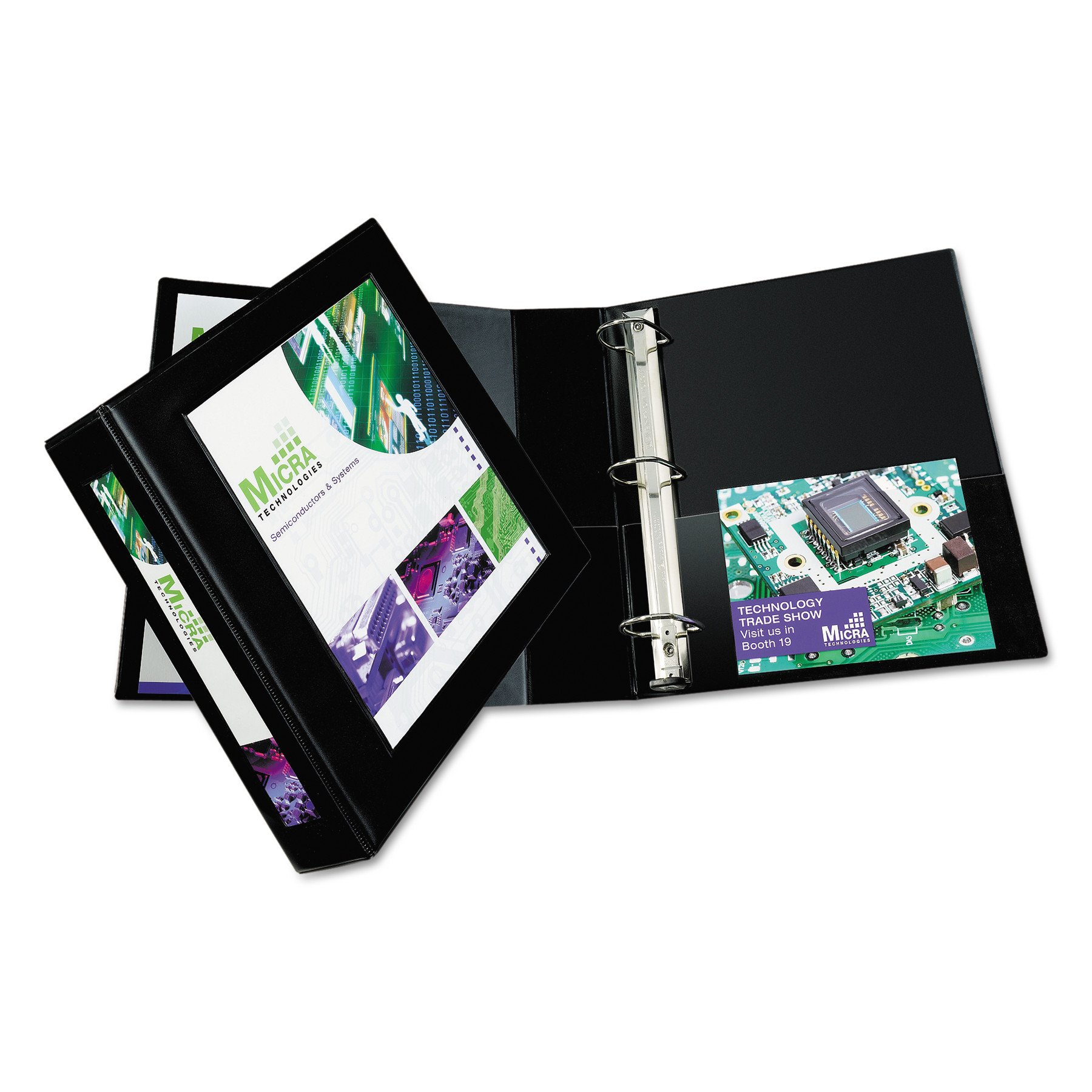 Avery Framed View Binders with One Touch 2-Inch EZD Ring, Holds 8.5 x 11 Inches Paper, Black (68032)