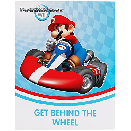 Image Unavailable. Image not available for. Color: BirthdayExpress Mario Kart Wii Invitations (8)