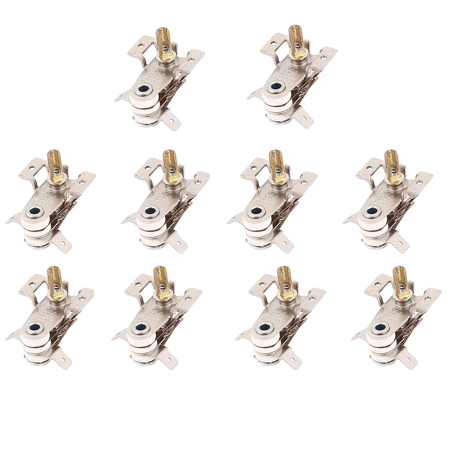 LDEXIN 10pcs AC 250V 16A Adjustable Bimetal Cooker Temperature Heating Thermostat Controller Switch Kitchen Electric Oven Replacing