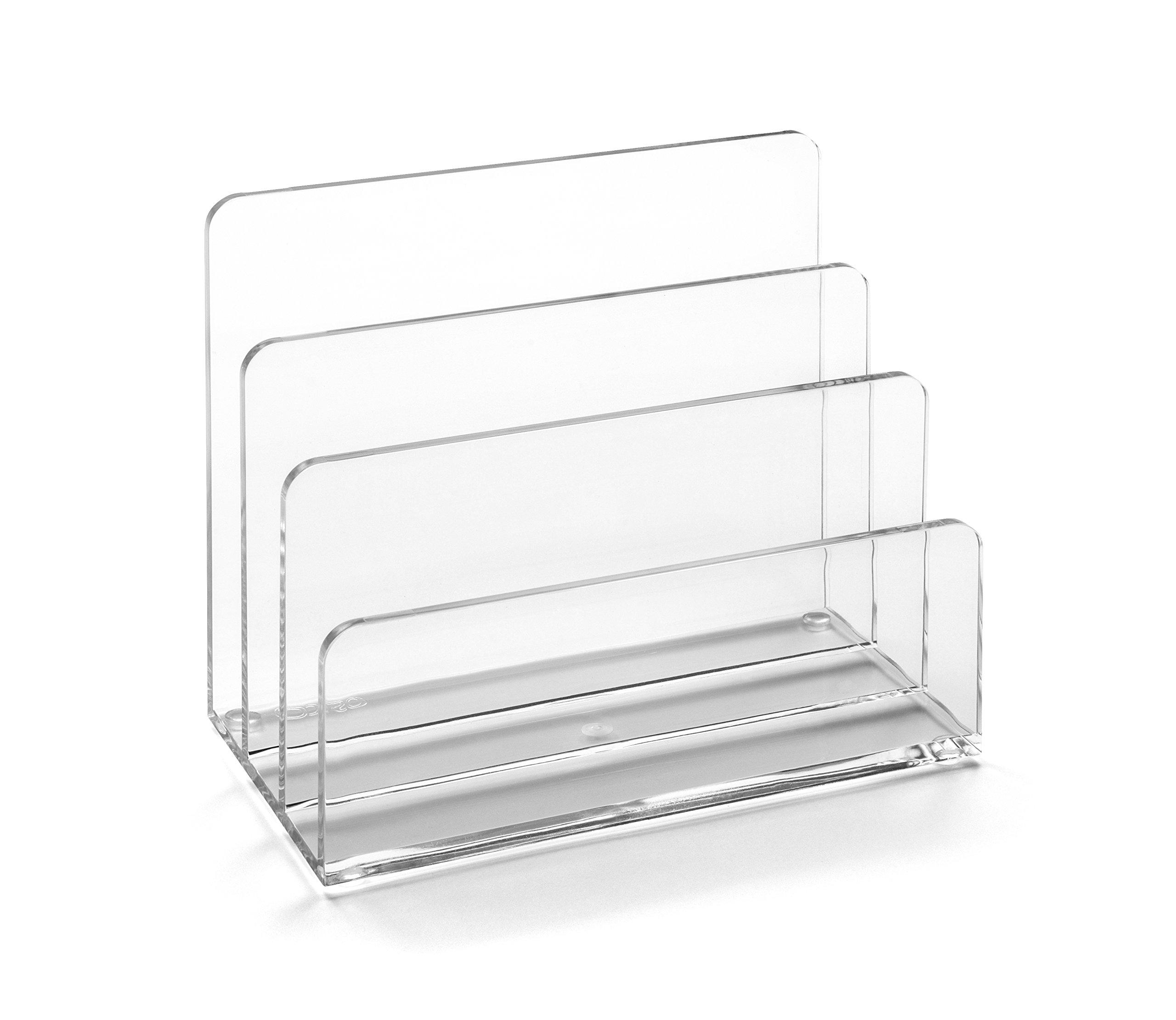 Osco ALH1 - Soporte para correspondencia acrílico, diseño transparente product image