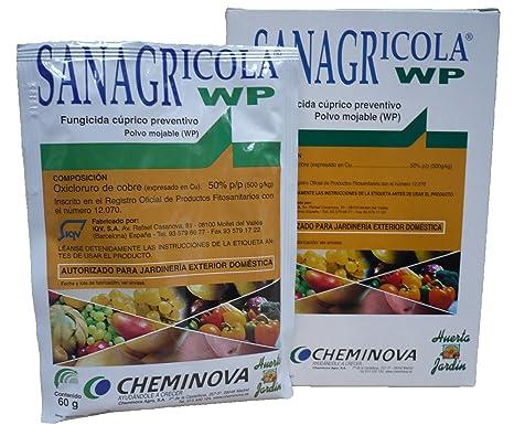 FMC SANAGRICOLA - Fungicida cúprico preventivo-Caja de 5 ...