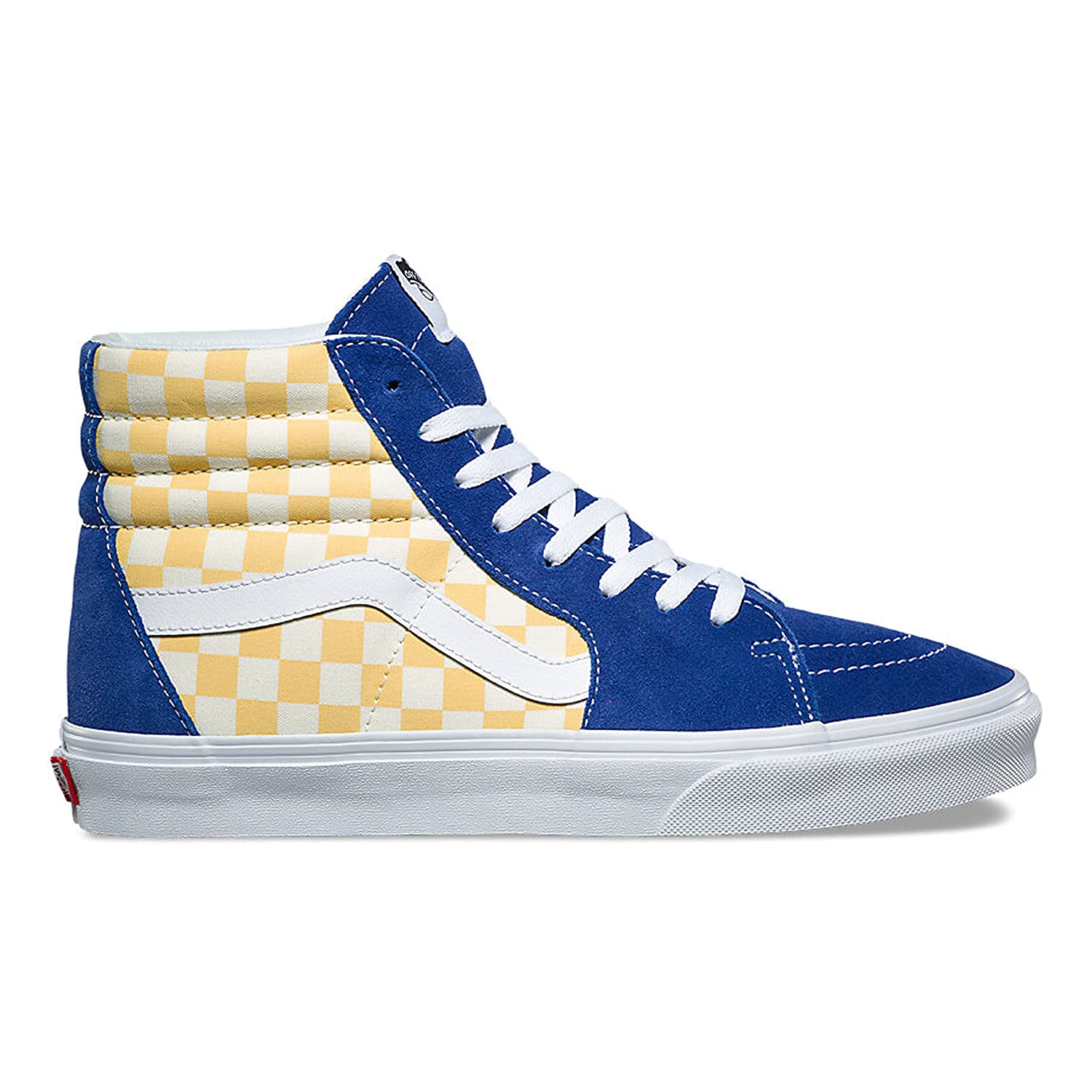 Vans Unisex Adult (BMX Checkerboard) True Blue/Yellow SK8-Hi VN0A38GEU8I Skate Shoes B078YCF92C 13 M US Women / 11.5 M US Men|(Checkerboard) True Blue/Yellow