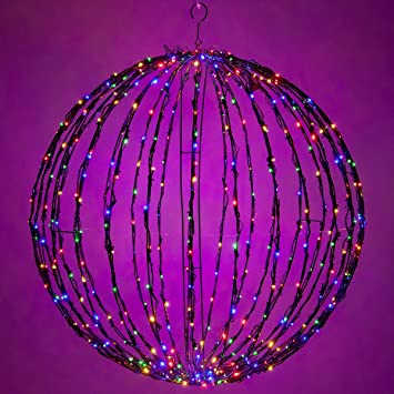 Amazon led light ball indoor outdoor christmas light led light ball indoor outdoor christmas light balls light spheres outdoor sphere mozeypictures Image collections