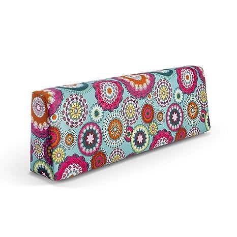 SUENOSZZZ - Respaldo colchoneta para Sofas de Palet (1 x Unidad) Cojin Relleno con Espuma Mandala Turquesa | Cojines para Chill out, Interior y ...