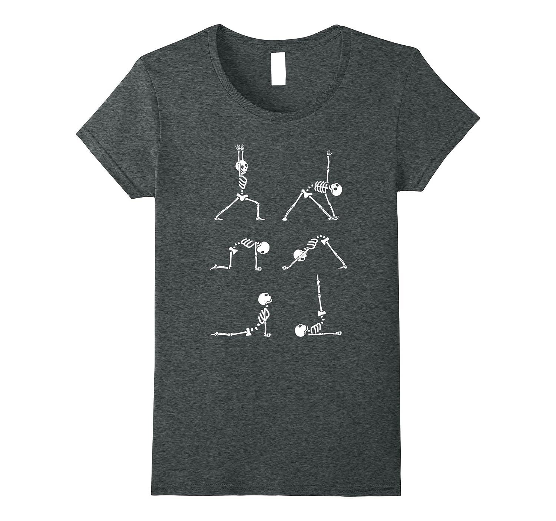 Halloween Skeleton Exercise Costume T Shirt-Awarplus