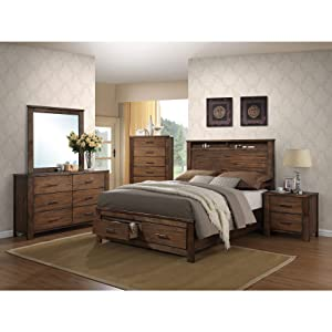 ACME Furniture Bed, Queen, Oak
