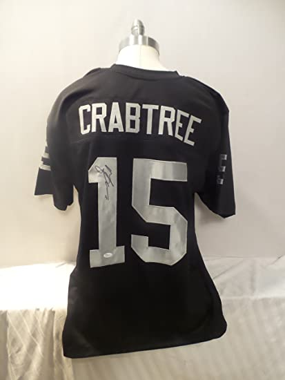 60cd2c1a2 Michael Crabtree Signed Oakland Raiders Black Autographed Jersey Novelty Custom  Jersey JSA