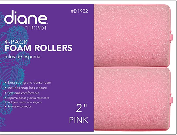 2 inch Jumbo Foam Rollers - Soft 'N Style (pack of 4) Pink, Strong foam, snap lock closure, soft material, comfortable material, twist, curls, hair roller