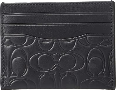 5a1a99da31 Amazon.com: COACH Men's Card Case in Embossed Signature Leather ...