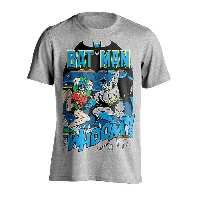 DC Comics Camiseta de Estilo Retro con Batman y Robin Modelo Whoom! para Hombre Fb1OX