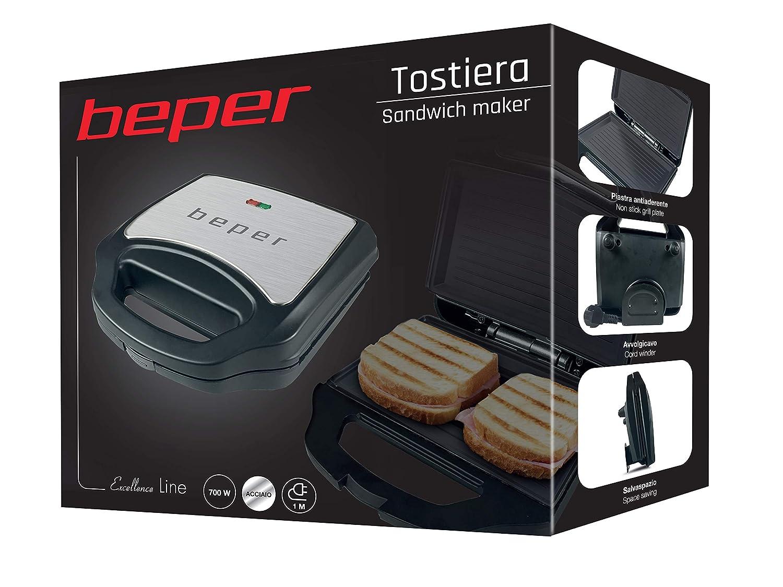 Beper BT.200 Toaster Stahl//Schwarz