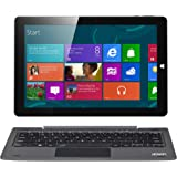 AOSON R106 10.1-Inch 2 in 1 Touchscreen Laptop Windows 10 Tablet PC Intel Atom x5 Cherry Trail Z8350 Quad-core 5000mAh 4GB RAM 64GB Storage Supported Mini HDMI OTG with Detachable Keyboard (Activated user account)
