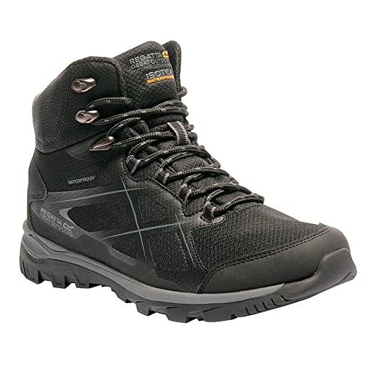 Great Outdoors Mens Kota Mid Walking Boot (8 US) (Black/Granite)