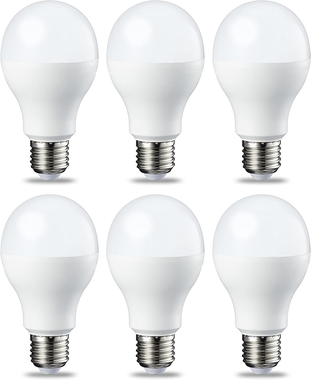 AmazonBasics Bombilla LED Esférica E27, 14W (equivalente a 100W), Blanco Cálido - 6 unidades