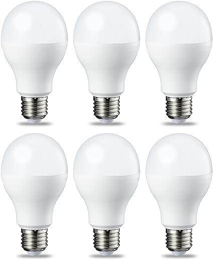 AmazonBasics Bombilla LED Esférica E27, 14W (equivalente a 100W), Blanco Cálido, Regulable - 6 unidades: Amazon.es: Iluminación