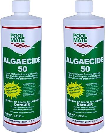 Amazon Com Pool Mate 1 2150 02 Algaecide 50 Swimming Pool Algaecide 1 Quart 2 Pack Garden Outdoor