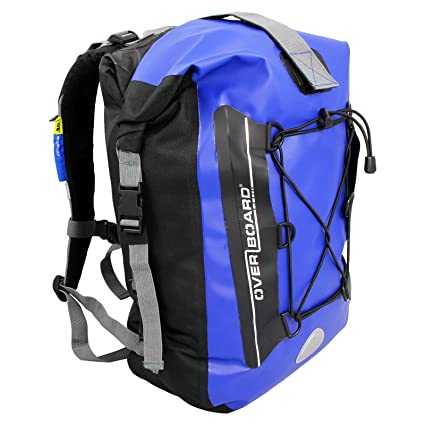 Amazon.com  Overboard 20 Liter Blue Waterproof Laptop Backpack ... 0568a26465788