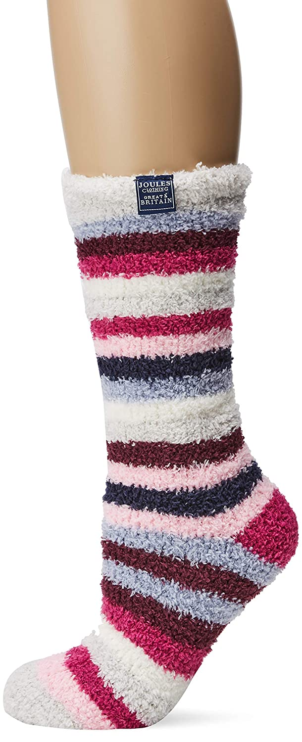 100 DEN Joules Womens Fabulously Fluffy Slipper Socks