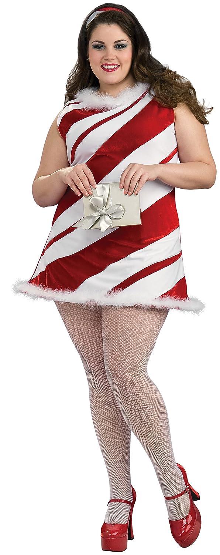 Amazon.com Secret Wishes Full Figure Ms. Candy Cane Costume Red/White One Size Clothing  sc 1 st  Amazon.com & Amazon.com: Secret Wishes Full Figure Ms. Candy Cane Costume Red ...