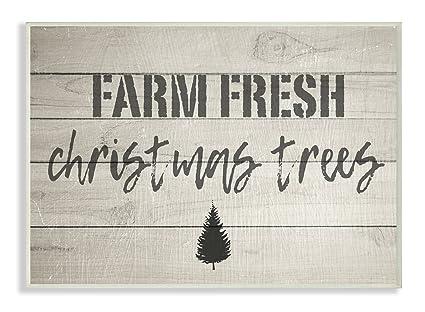 Amazon.com: The Stupell Home Decor Collection Farm Fresh Christmas ...