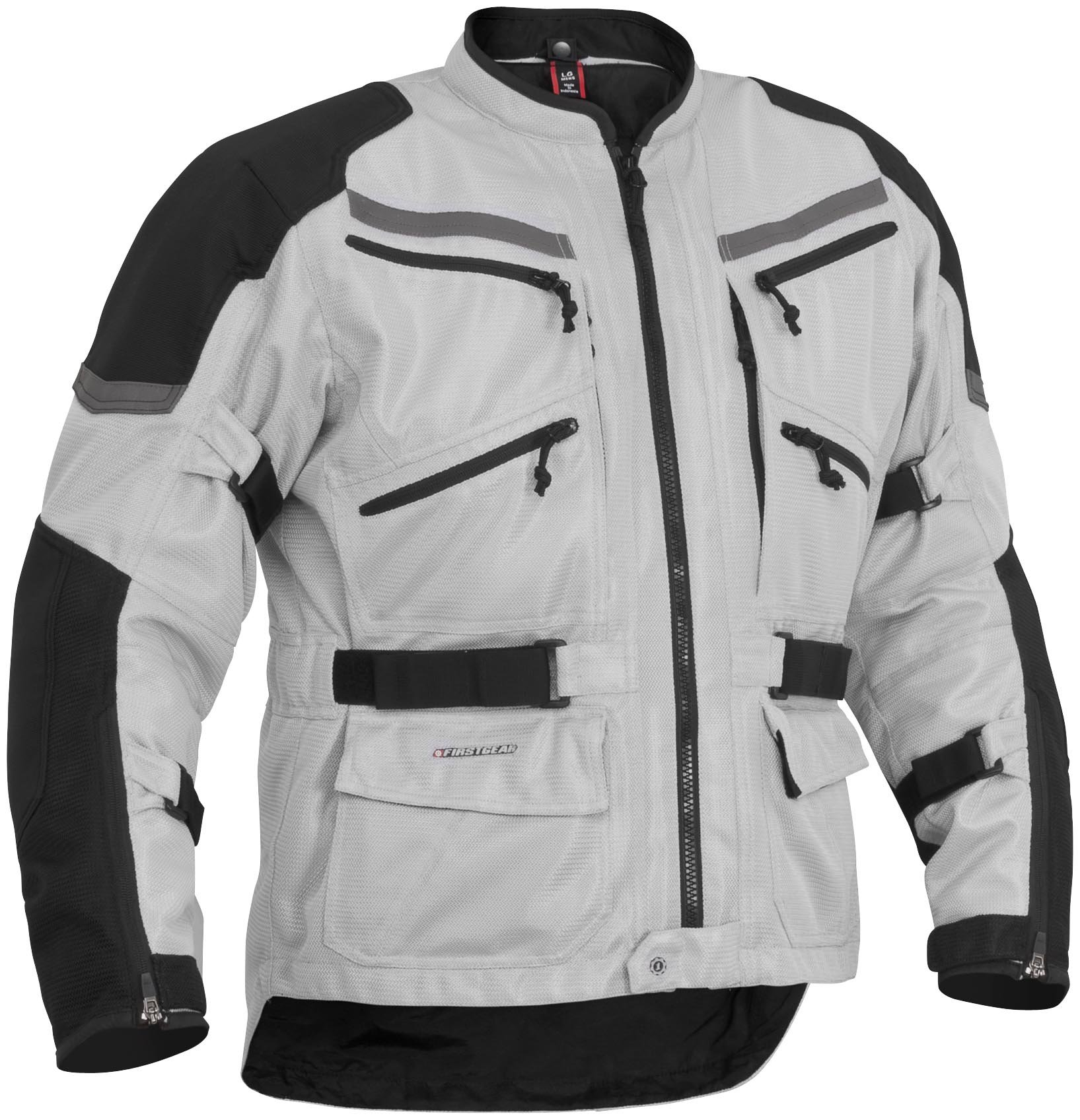Firstgear Adventure Mesh Silver/Black Jacket, M - Tall