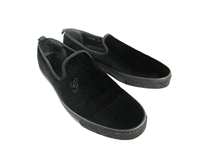 a99d6fa78e50 Mens Gucci  Mitte  Slip-On Black Velvet shoes