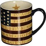 "LANG - 14 oz. Ceramic Coffee Mug - ""Colonial Flag"", Art by Warren Kimble - Painted American Flag"