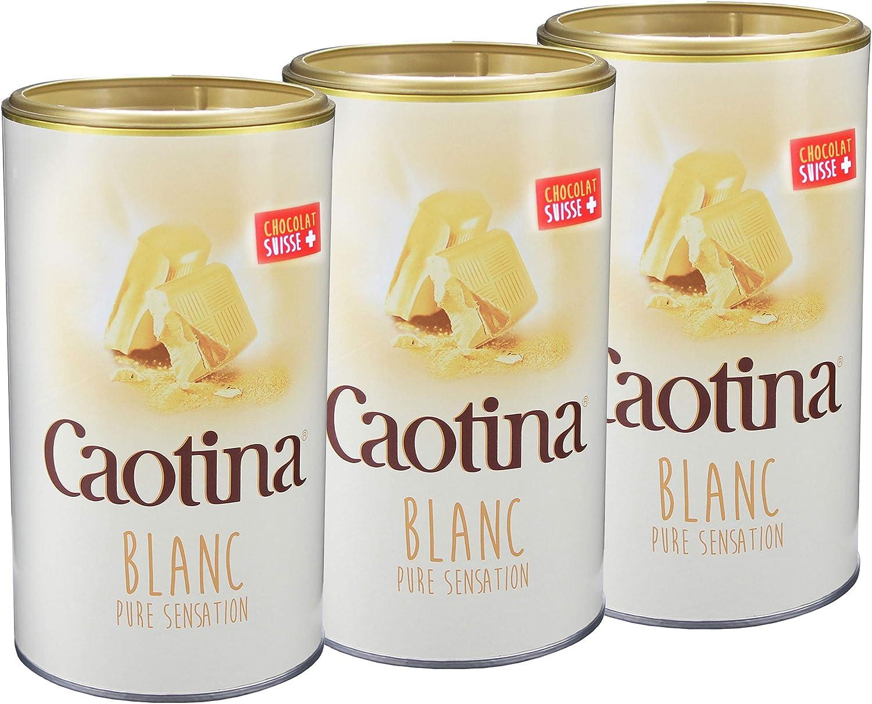 Caotina blanc, Cacao en Polvo de Chocolate Blanco Suizo, Bebida Caliente de Chocolate, Pack Triple, 3 x 500 g: Amazon.es: Hogar