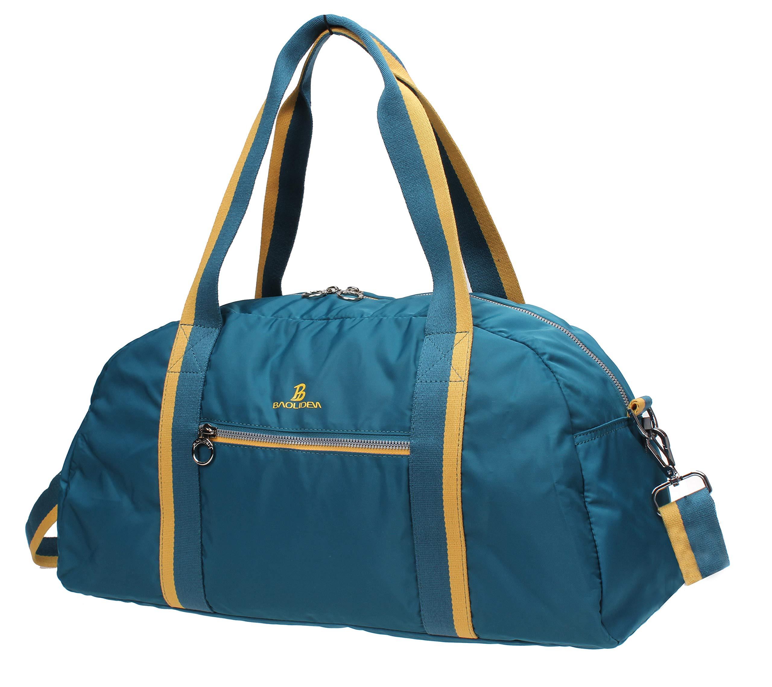Iblue Small Travel Duffel Waterproof Nylon Gym Handbag Sports Gear Bag Bl10 (blue)