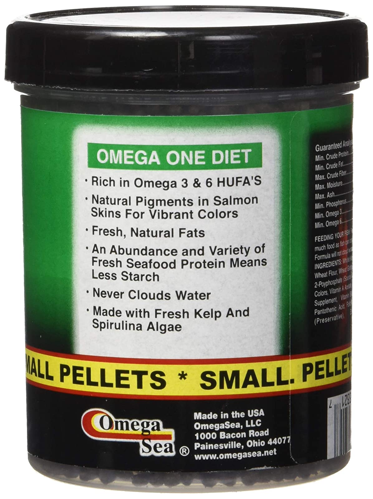 Omega One Super Veggie Pellets Small 3.5oz SHOMHNK004 - 1