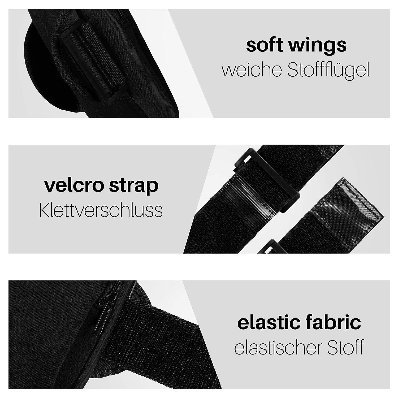 Spritz-Wasserfest Schwarz 2 Rei/ßverschlussf/ächer mit Kopfh/örer/öffnung Verstellbarer Gurt moex Sport-Armband f/ür Samsung Galaxy A50