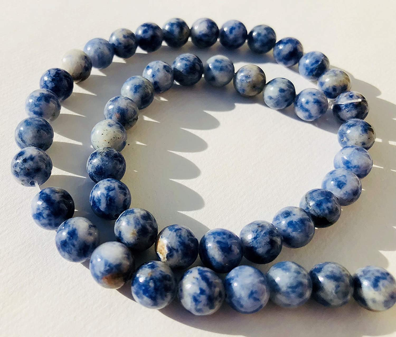 Sodalith gefrostet 12mm blau Edelstein Perlen Stränge Basteln Schmuck Heilstein