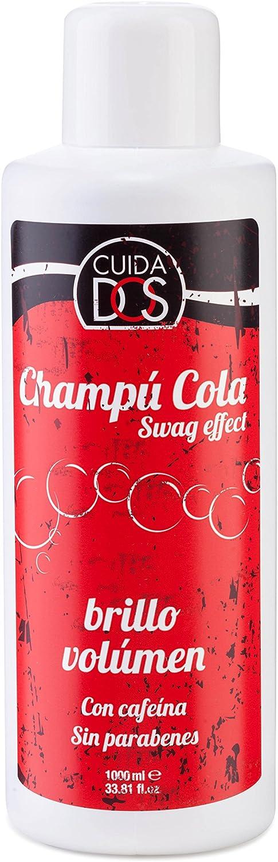 Cuidados Champú Cola, con Cafeína, Brillo y Volumen. Sin parabenos - 1 litro