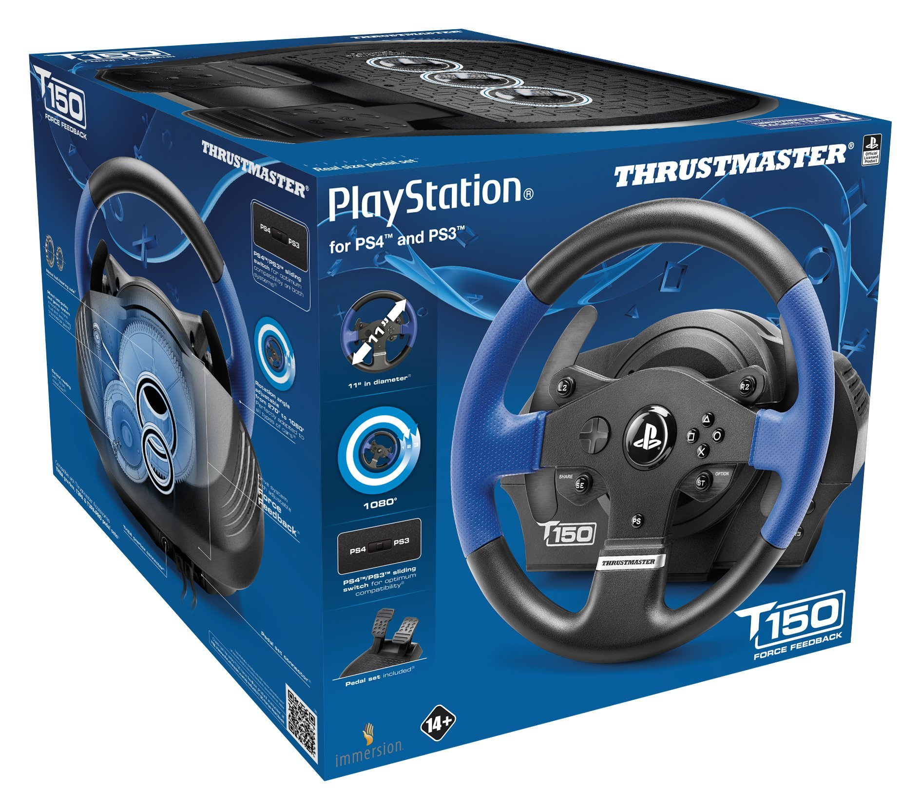 Thrustmaster T150 RS Racing Wheel for PlayStation4, PlayStation3 and PC by ThrustMaster (Image #3)