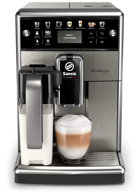 Saeco - Cafetera (Independiente, Máquina espresso, 1,8 L, Granos de café, De café molido, Molinillo integrado, Negro, Acero inoxidable): Amazon.es: Hogar