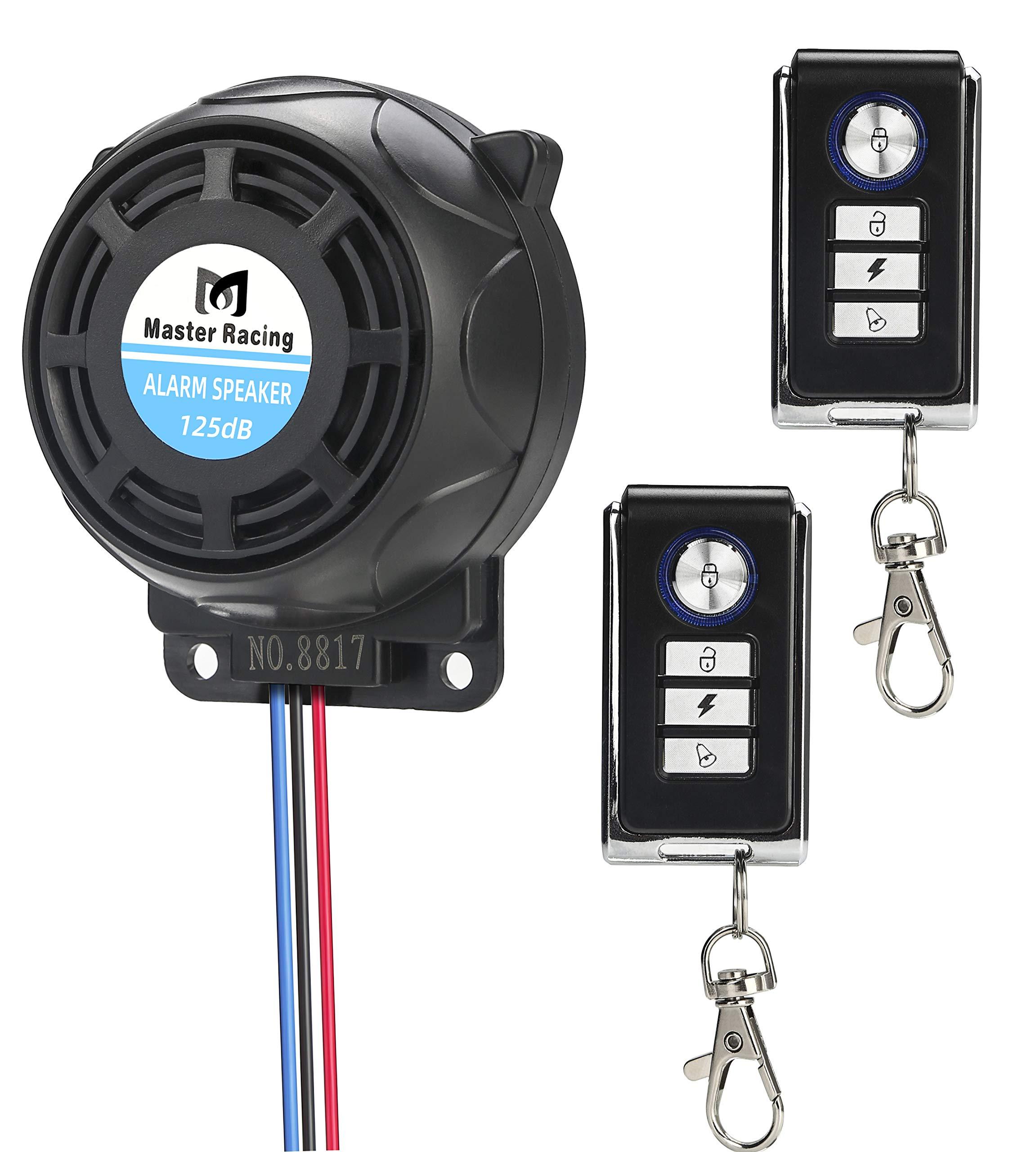 Rupse Wireless Alarm System Motorcycle Bicycle Bike Anti Theft Security Burglar Double Remote Control Warner Horn Adjustable Sensitivity