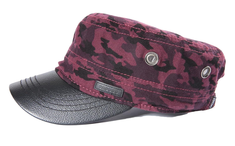 CACUSS Unisex Cappello Militare Cadetto Cadet cap Uomini Cotone Cappello da Baseball Regolabile per Ambientazione Esterna Viaggi Sport