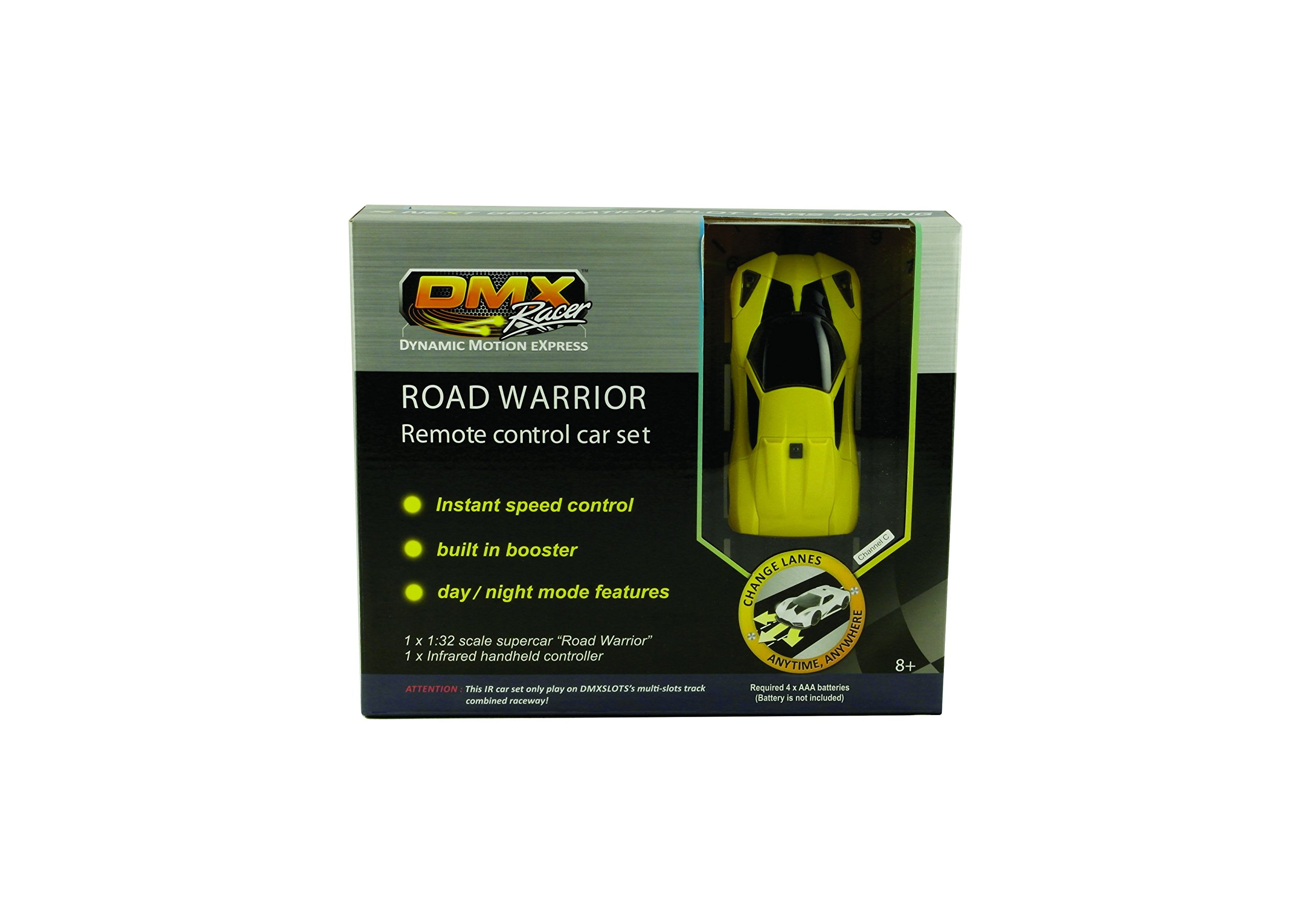 DMXSLOTS Channel C - yellow car set with remote controller by DMXslots