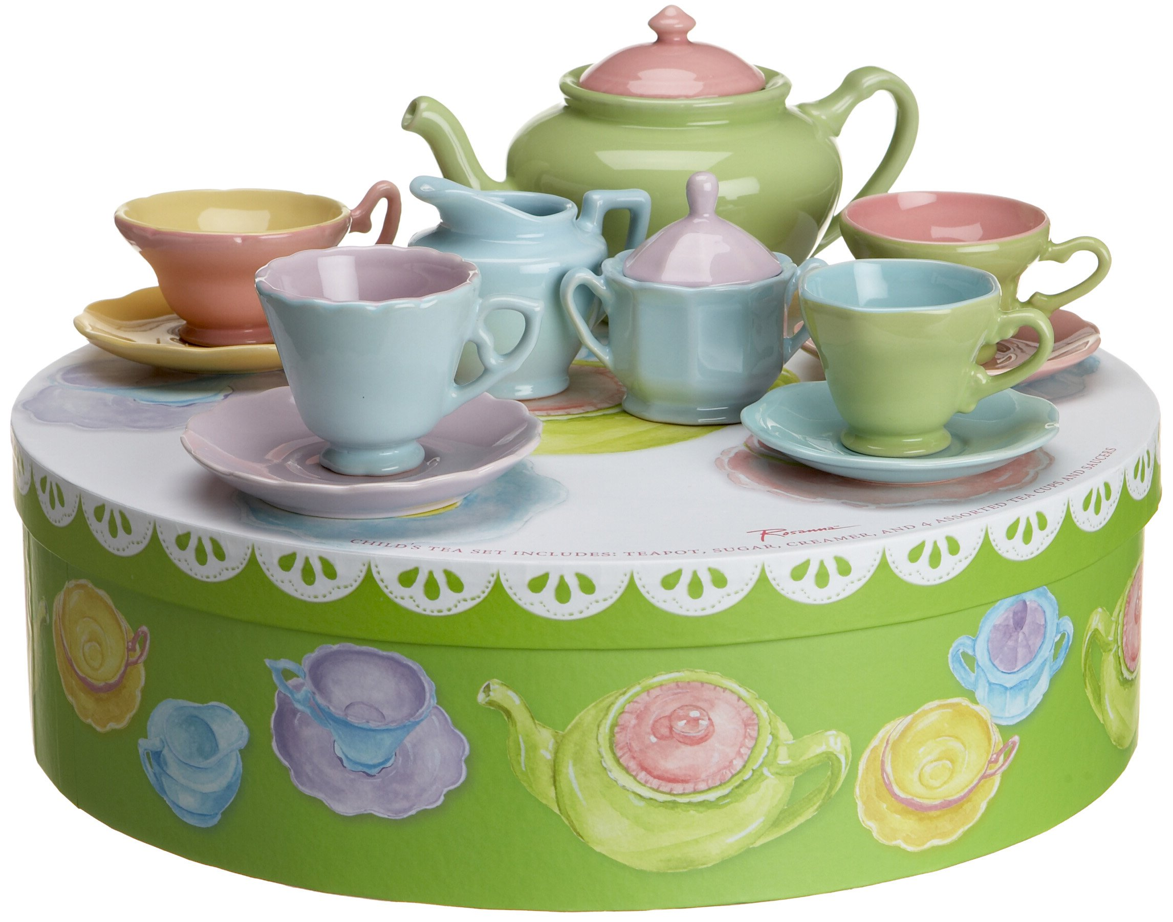 Rosanna Tea For Me Too, Gift-boxed Children's Tea Set, Service for 4