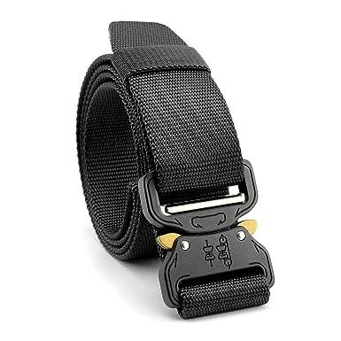 STAY GENT Tactical Belt Cinturones tácticos militares durables de la cobra con la hebilla ajustable del