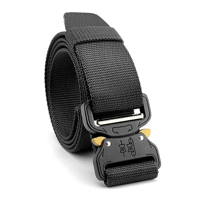 STAY GENT Tactical Belt Cinturones tácticos militares durables de la cobra con la hebilla ajustable del metal para la seguridad de la caza, ...