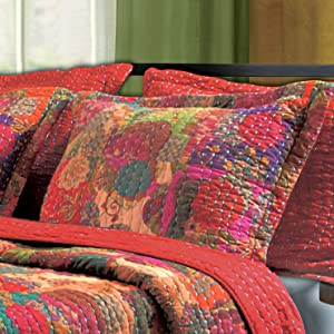 Greenland Home Fashions Jewel King Sham-Multi, Multicolor