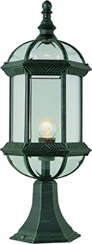 Trans Globe Lighting 4182 WH Outdoor Wentworth 21 Postmount Lantern, White