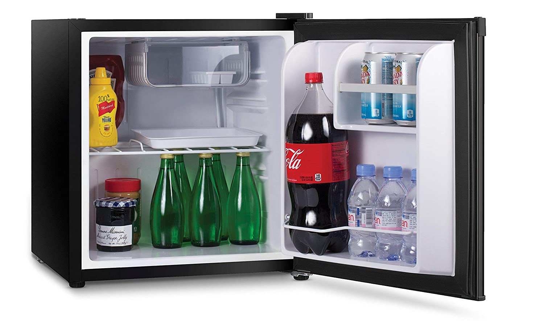 Renewed Commercial Cool CCR16B Compact Single Door Refrigerator and Freezer Mini Fridge Ft 1.6 Cu Black