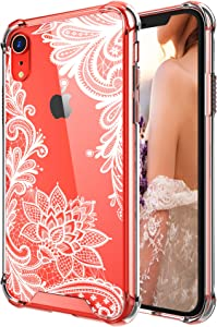 Case for iPhone XR,Cutebe Shockproof Series Hard PC+ TPU Bumper Protective Case for Apple iPhone XR 6.1 Inch 2018 Release White