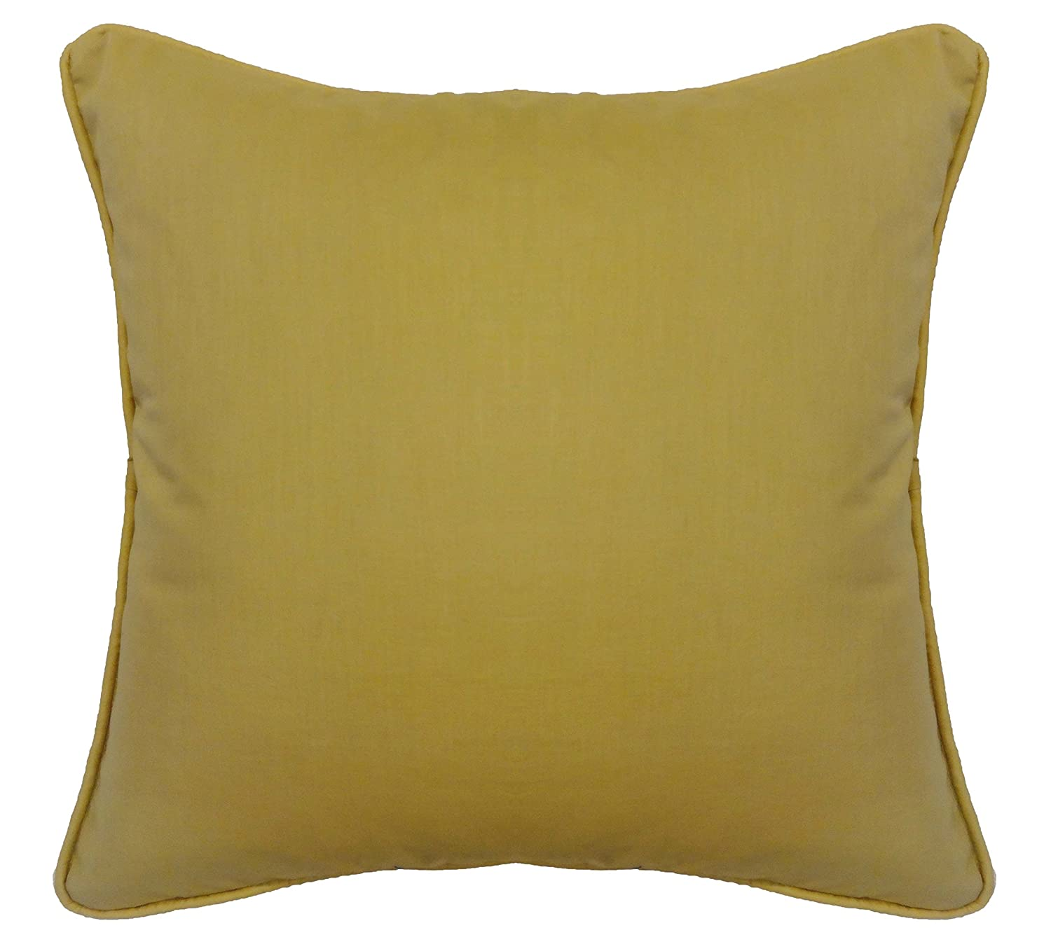 Saffron Beige Cotton Cushion Cover Pillow Case Cord Piping