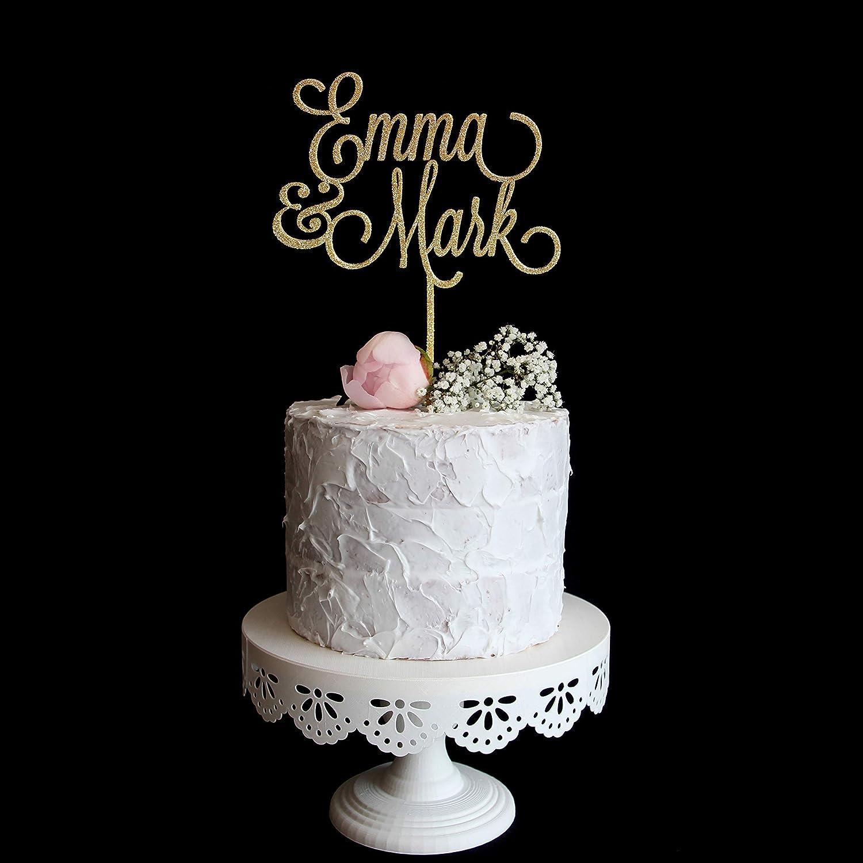 Custom cake topper glitter cake topper personalised cake topper name topper