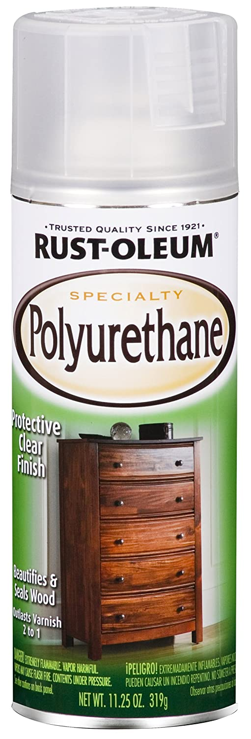 Rust-Oleum 7872830 Specialty Polyurethane Spray, Satin, 11.25 Oz