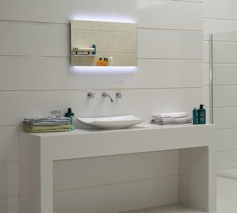 Bianco Freddo Fleischmann Tondo Specchio del Bagno con Illuminazione LED GS047N IP44 Dr